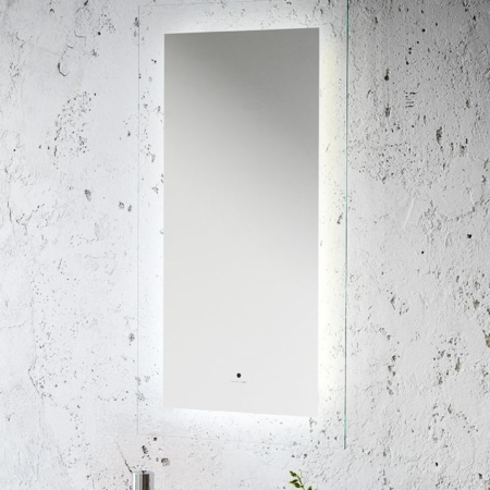Prostokątne lustro łazienkowe z podświetleniem Zen