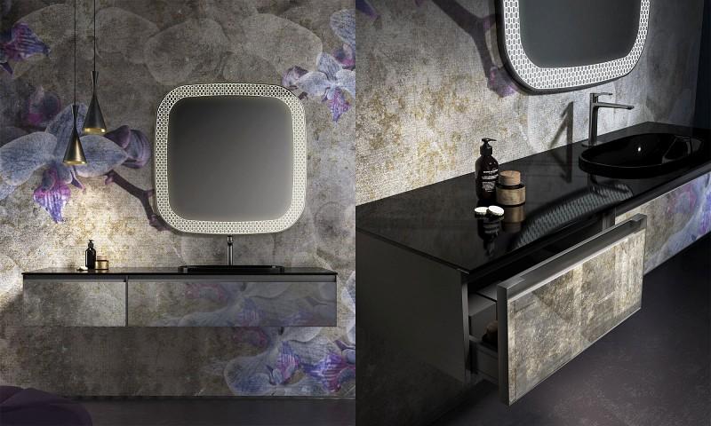 Stylowe meble łazienkowe z umywalką Skin