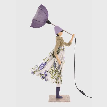 Fioletowa lampka dziewczynka Rosemery Skitso