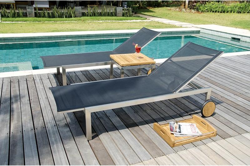 Meble basenowe metalowy leżak Berbeda