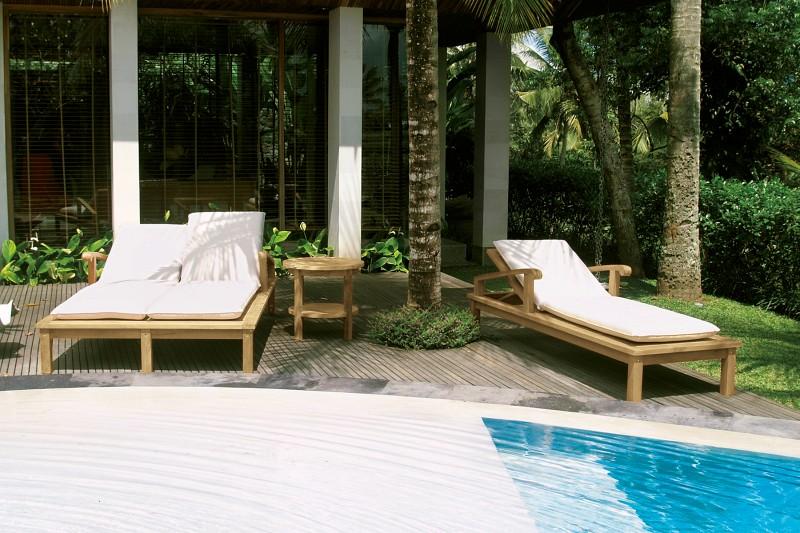 Meble basenowe - podwójny leżak Laurent