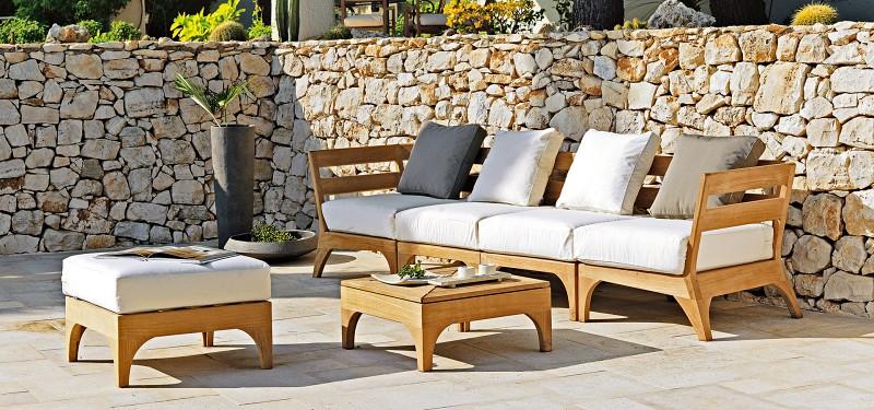 Nowoczesne meble ogrodowe z drewna zestawy