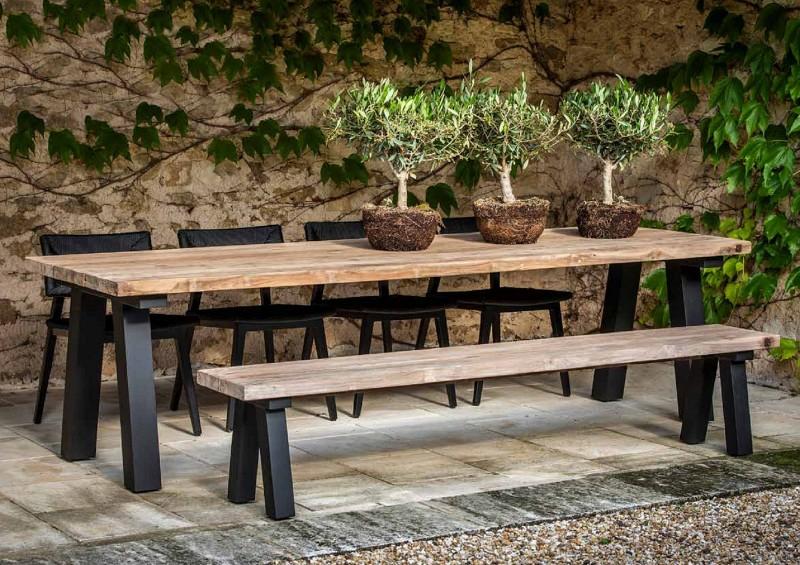 Nowoczesne meble ogrodowe z drewna ławki