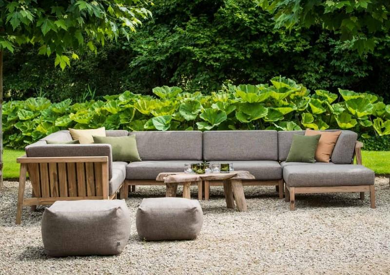 Nowoczesne meble ogrodowe z drewna sofy tapicerowane