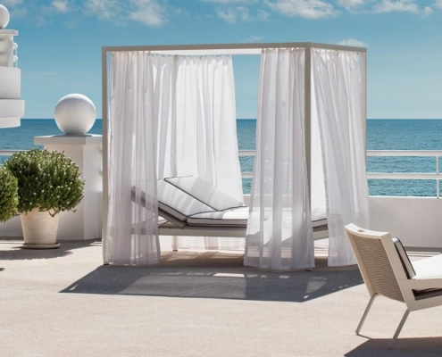 Łóżka ogrodowe allaperto grand hotel