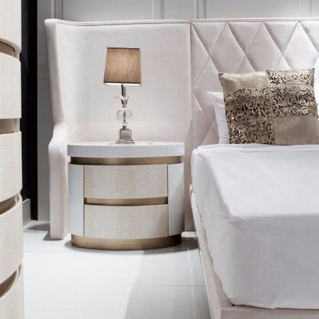 Biała szafka nocna glamour Florida
