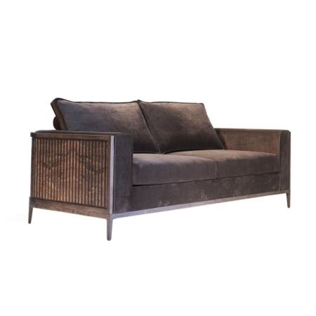 Brązowa sofa w nowojorskim stylu Manhattan