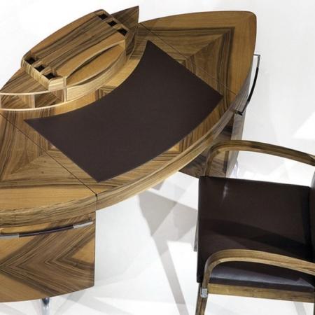 Designerskie biurko z drewna Next
