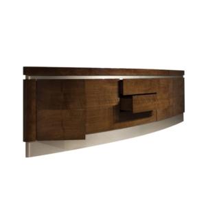 Drewniana komoda na wysoki połysk Canoe
