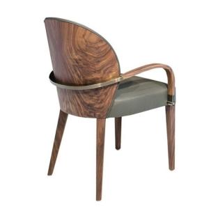 Drewniane krzesło tapicerowane z podłokietnikami Rita