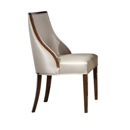 Eleganckie krzesło tapicerowane Canoe