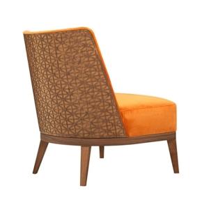 Fotel z dekoracyjnym oparciem Fez