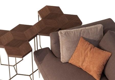 Heksagonalne stoliki pomocnicze TreEsagoni 2
