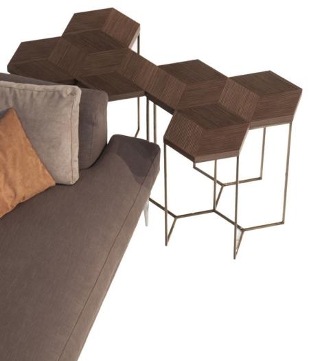 Heksagonalne stoliki pomocnicze TreEsagoni