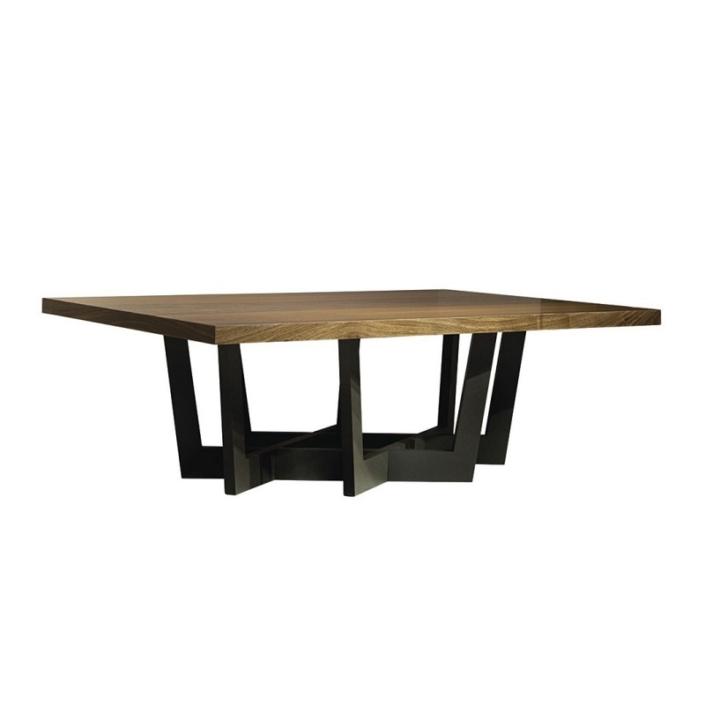 Kwadratowy stolik kawowy z grubym blatem Repeat
