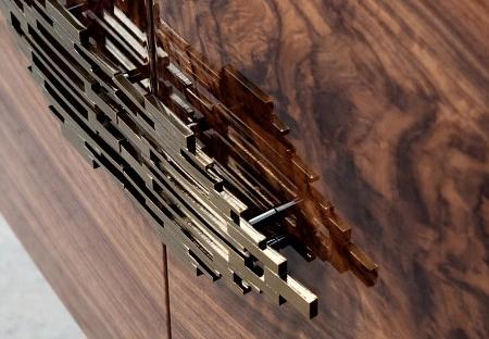 Luksusowa komoda z drewna na wysoki połysk Shanghai