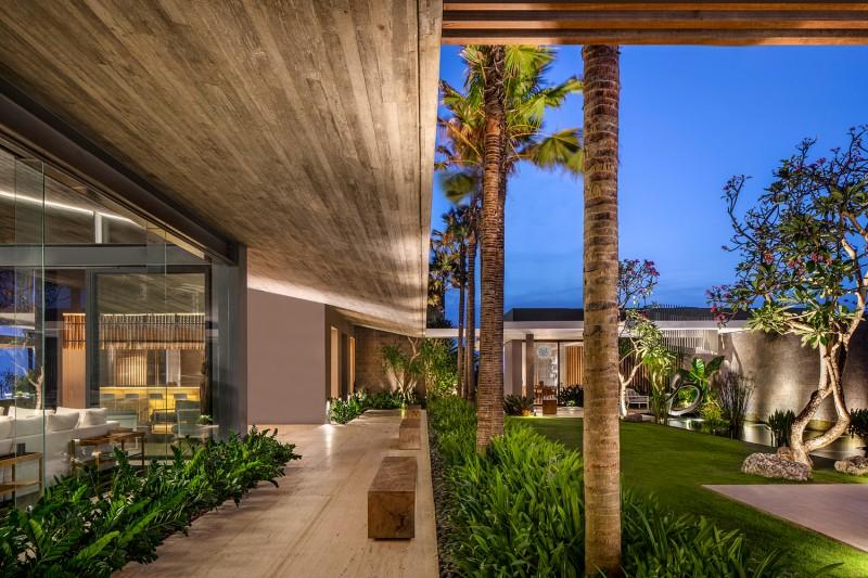 Luksusowa willa otwarta na ogród taras