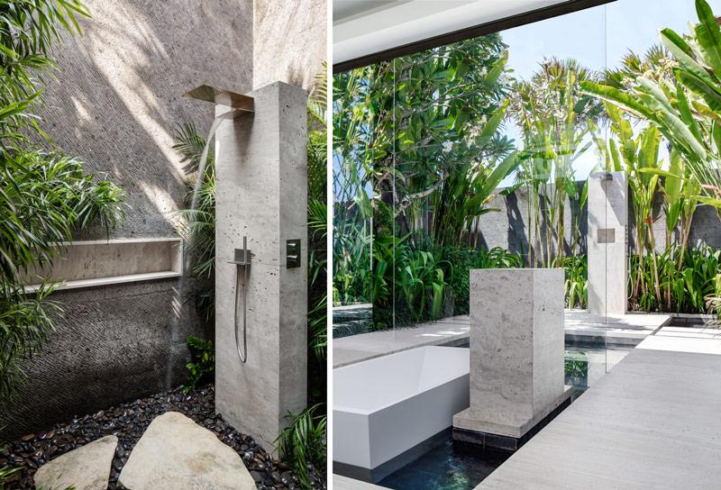 Luksusowa willa otwarta na ogród pokoje kąpielowe