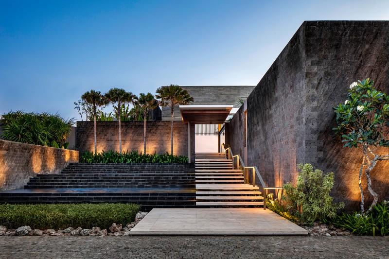 Luksusowa willa otwarta na ogród wejście