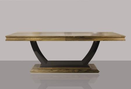 Masywny prostokątny stół z drewna Chocolate Table