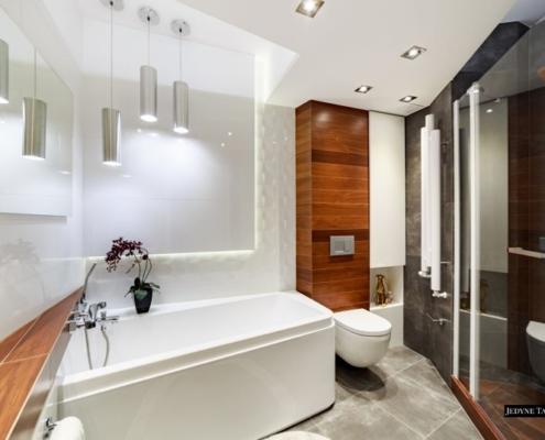 Nowoczesna łazienka o nietypowym układzie