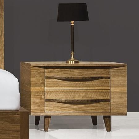 Nowoczesna szafka nocna z drewna Valencia
