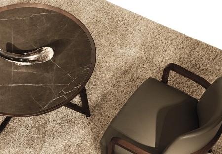 Okrągłe stoliki kawowe z kamiennym blatem Opera