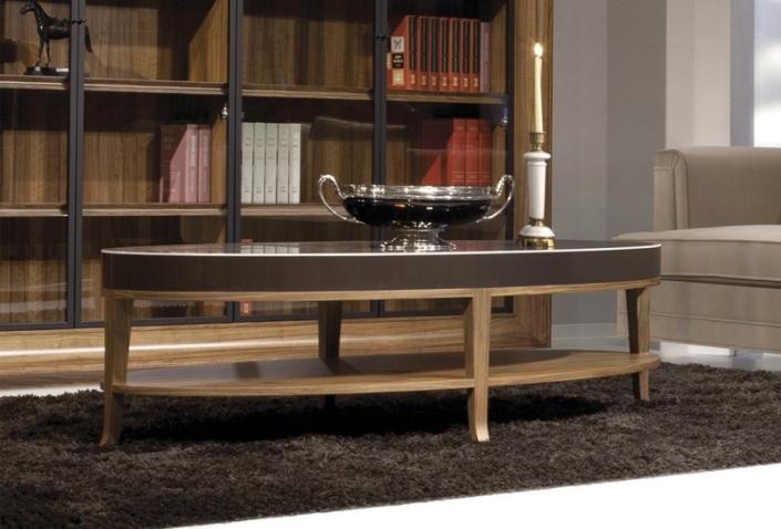Okrągły stolik kawowy na wysoki połysk Vouge Coffee Table