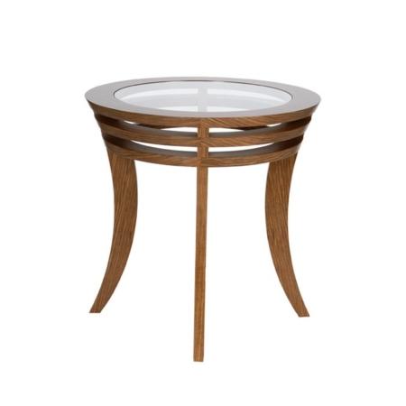 Okrągły stolik pomocniczy w stylu nowojorskim Newyorker