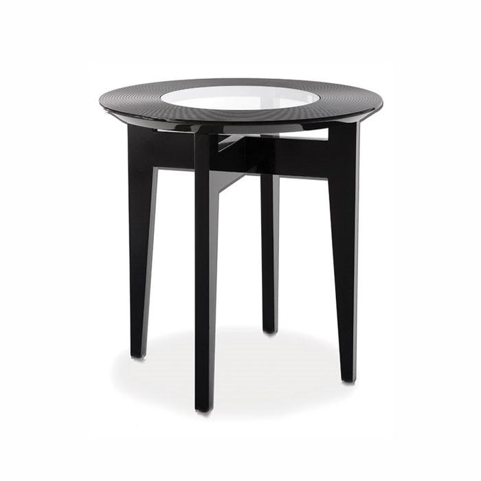 Okrągły stolik pomocniczy z frezowanym blatem Soprano