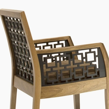 Orientalne krzesło z podłokietnikami Harem