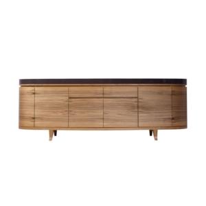Owalna komoda z drewna Vogue