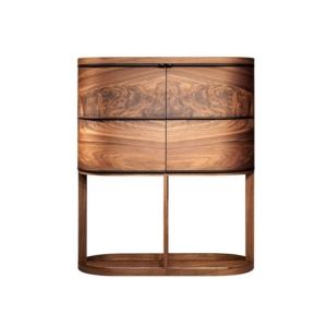 Owalny kredens z drewna Aria Cabinet