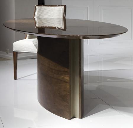 Owalny stół na wysoki połysk Canoe
