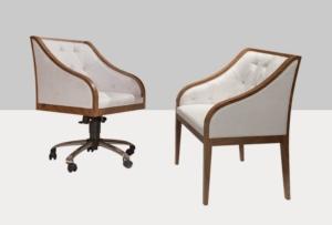 Pikowane krzesło biurowe Winston