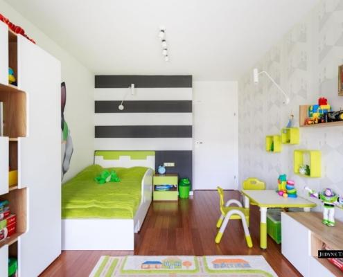 Pokój chłopięcy z zielonymi akcentami