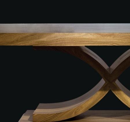 Prostokątny stół na jednej nodze Oslo Table