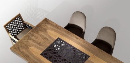 Prostokątny stół z dekoracyjnym blatem Morocco