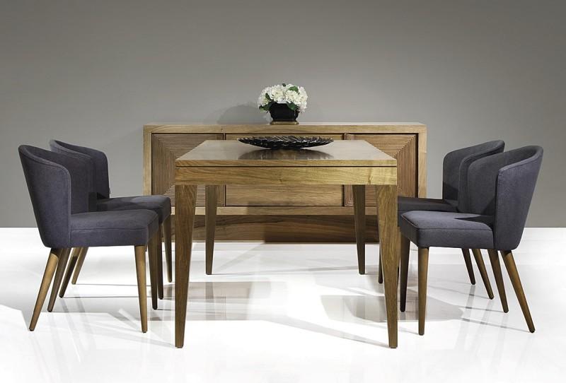 Prostokątny stół z drewna Raja Table