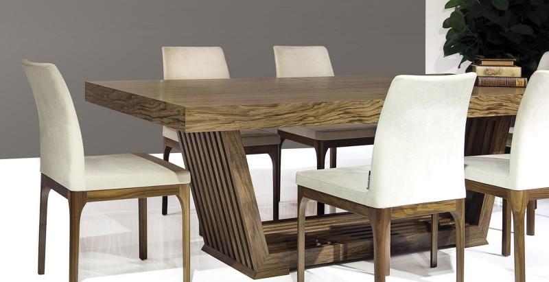 Prostokątny stół do jadalni z grubego drewna Bridge