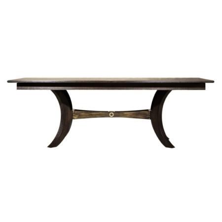 Prostokątny stół z ozdobnymi nogami Tribeca