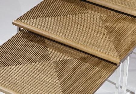 Stoliki pomocnicze z frezowanym blatem Kreon