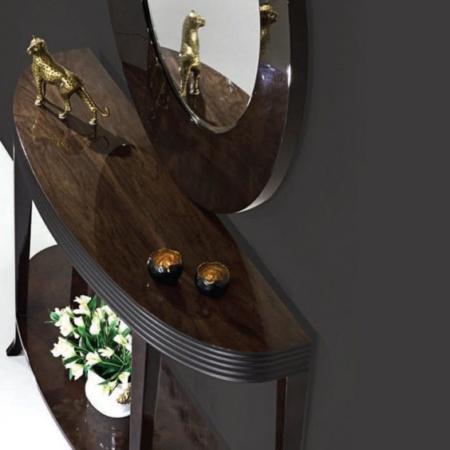 Stylowa konsola z drewna Houston