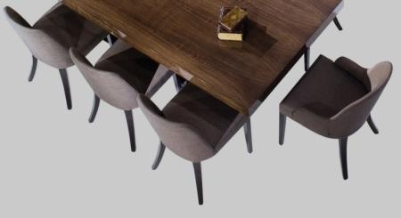 Stylowe tapicerowane krzesło z podłokietnikami Barcelona