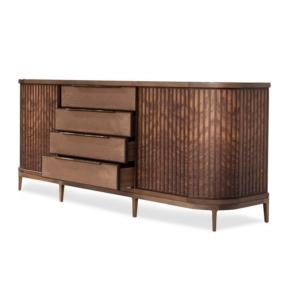 Szeroka komoda z drewna Manhattan