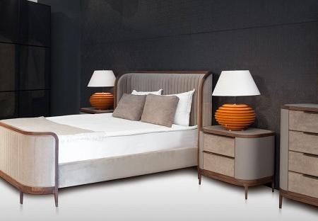 Tapicerowane łóżko w stylu nowojorskim Manhattan
