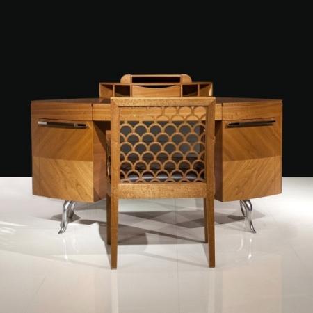 Zdobione krzesło bez podłokietników Kos 1