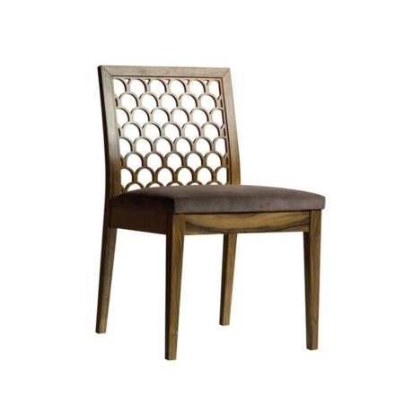 Zdobione krzesło bez podłokietników Kos