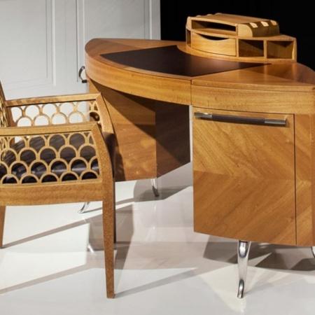 Zdobione krzesło w orientalnym stylu Kos 1