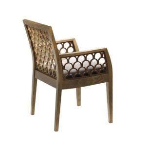 Zdobione krzesło w orientalnym stylu Kos